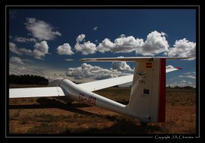Schleicher ASK-21 EC-JEQ del Aeroclub Nimbus de Vuelo a Vela.