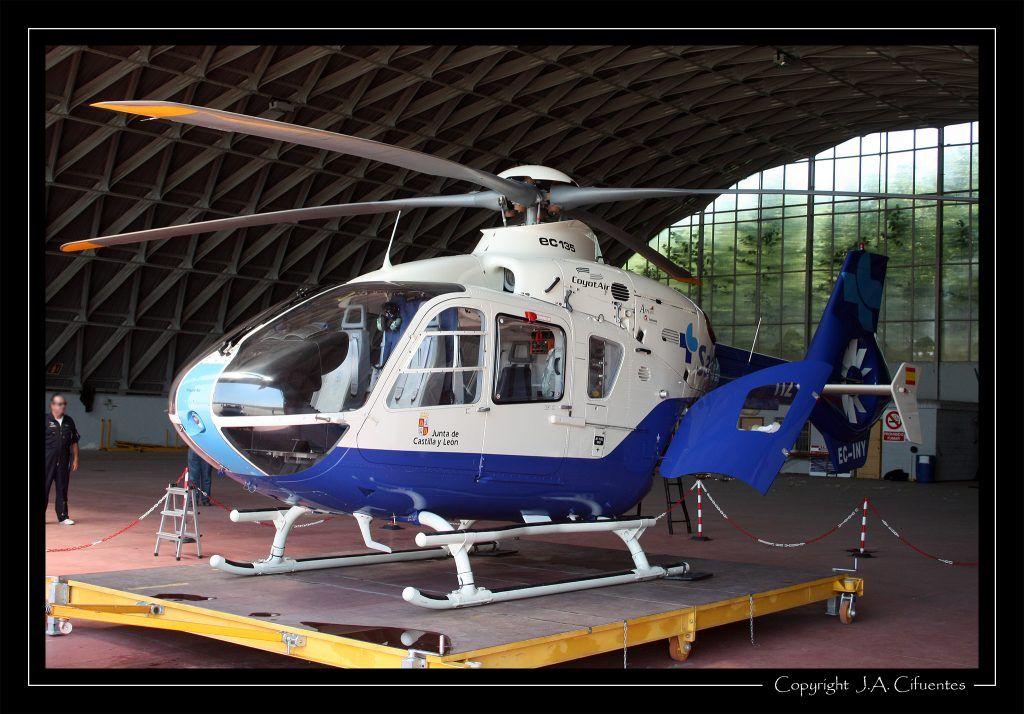 Eurocopter EC-135T2 de (EC-INY) de Coyot Air operado para el Servicio de Salud de Castilla y León.