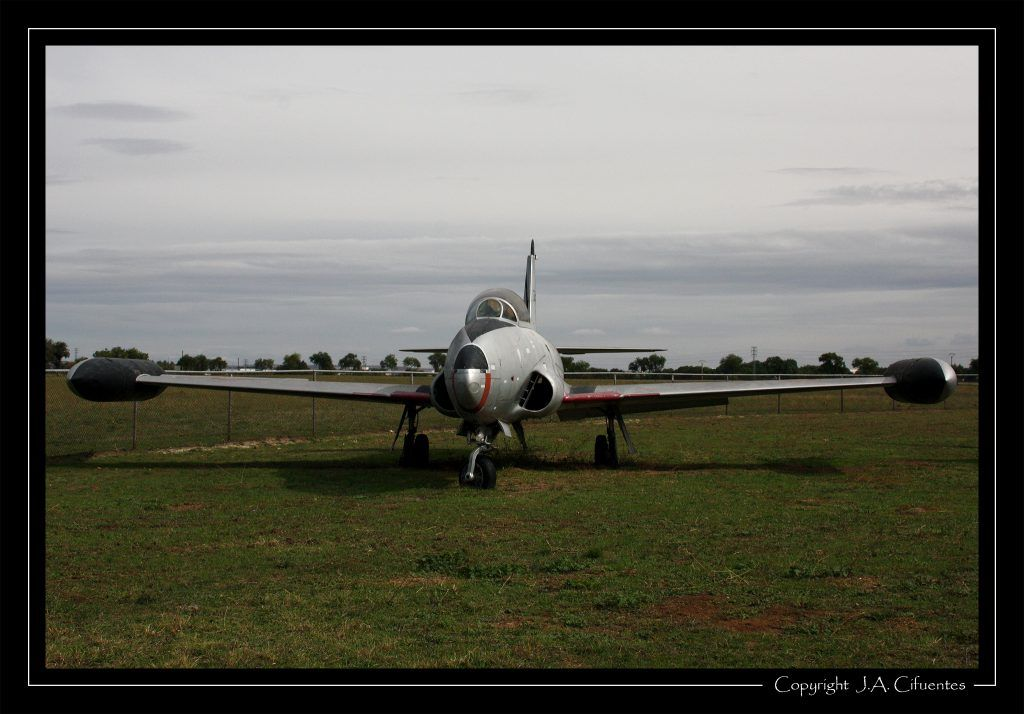 """Lockheed T-33 """"Shooting Star"""" del Ejercito del Aire."""
