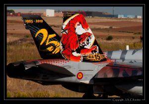 """McDonnel Douglas F-18 """"Hornet"""" del Ejercito del Aire."""
