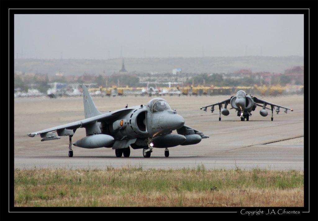 Harrier II Plus de la Novena Escuadrilla de la Armada