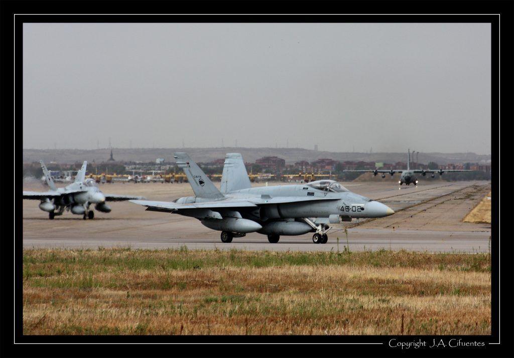 """McDonnel Douglas F-18 """"Hornet"""" del Ala 46 del Ejercito del Aire"""