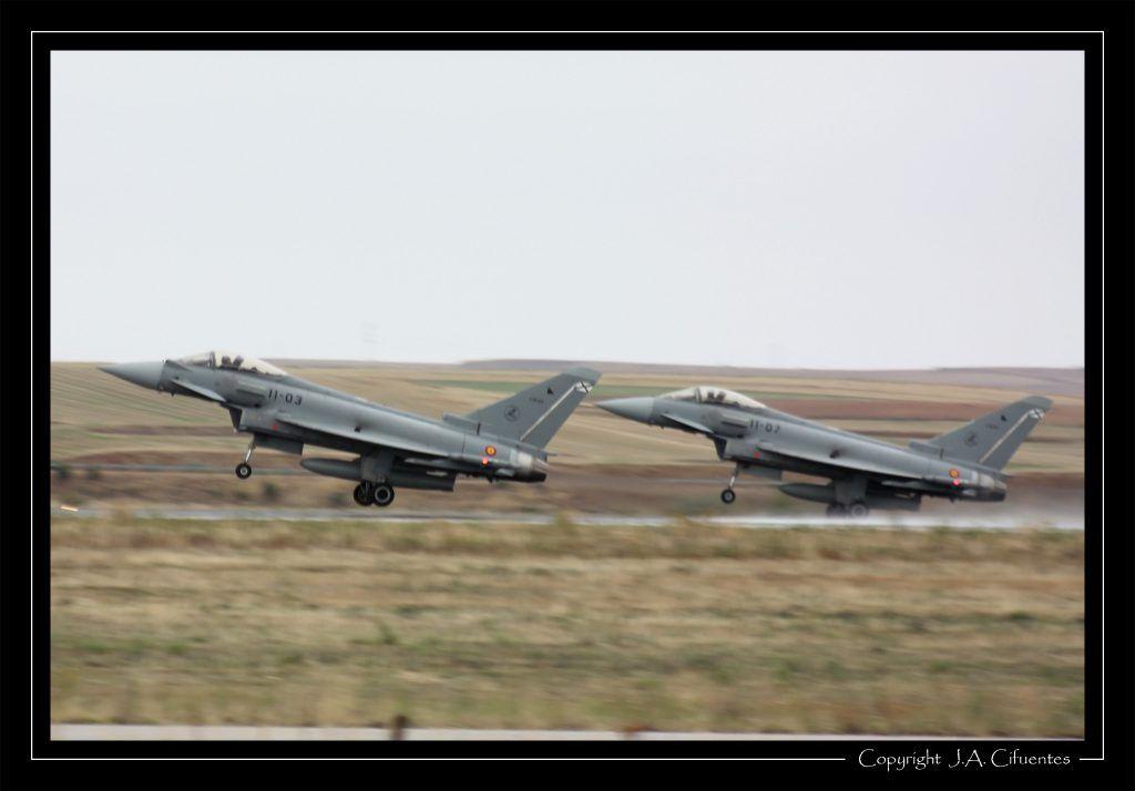 "Eurofighter ""Typhoon"" del Ala 11 del Ejercito del Aire"