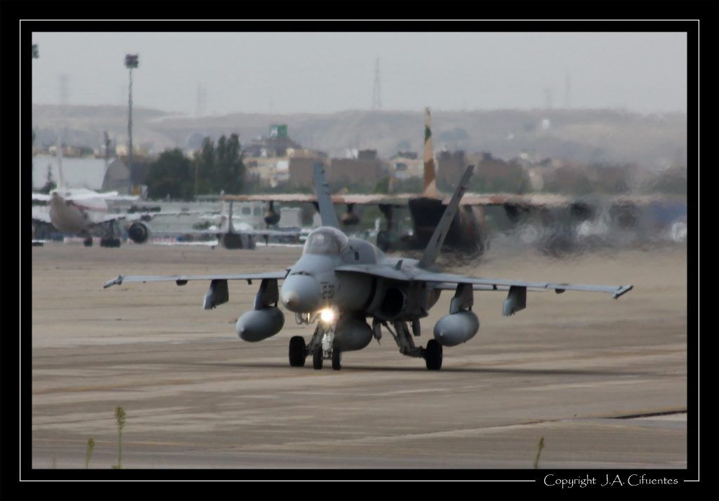 """McDonnel Douglas F-18 """"Hornet"""" del Ala 12 del Ejercito del Aire"""