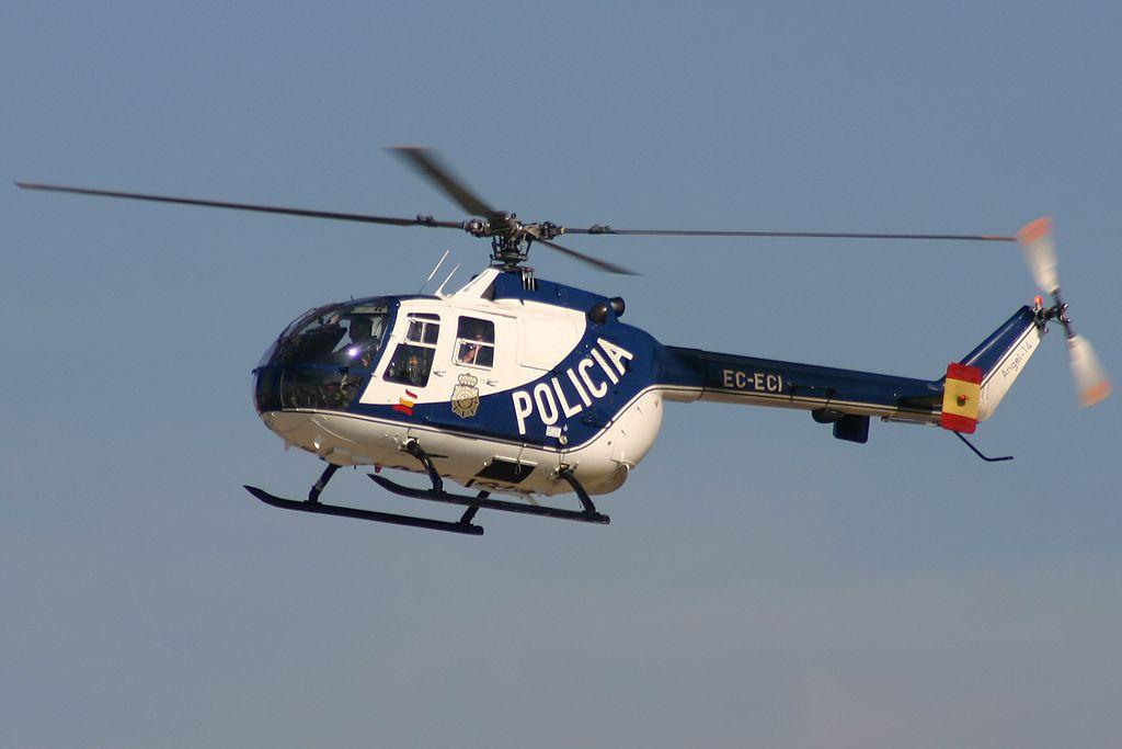 MBB Bölkow Bö105-CB (EC-ECI) de la Dirección General de la Policia