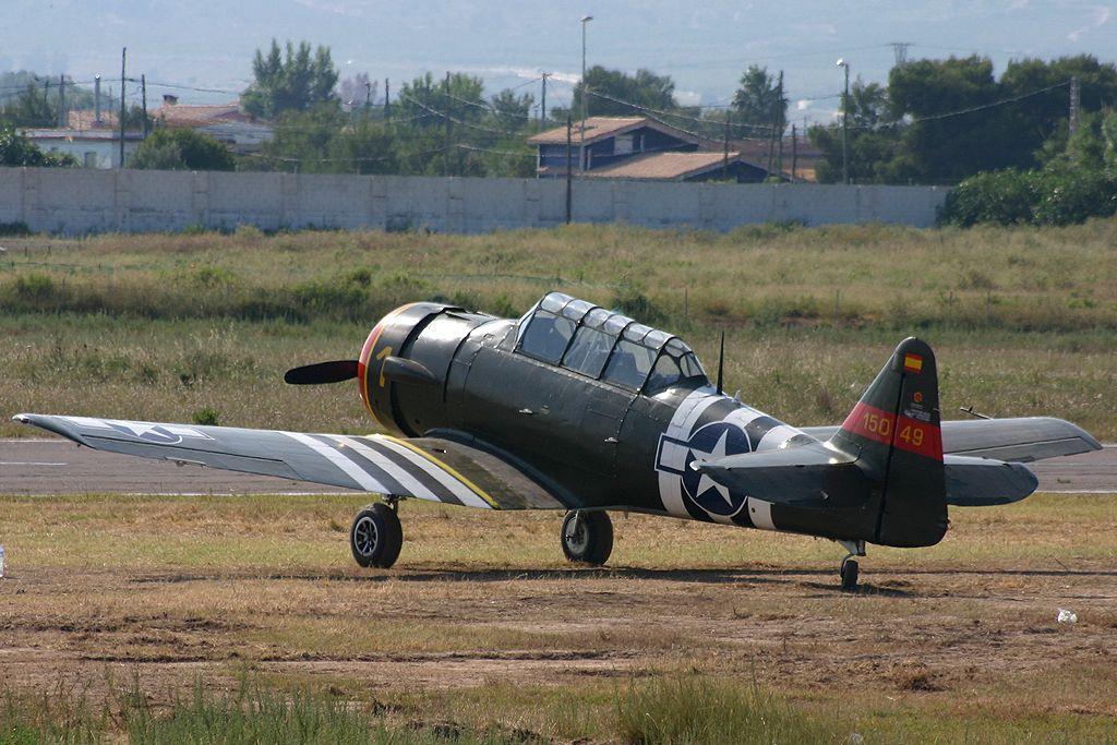 North American T6-G Texan de la Fundación Aérea de la Comunidad Valenciana