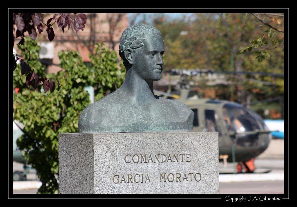 Monumento a García Morato, uno de los ases de la Guerra Civil española