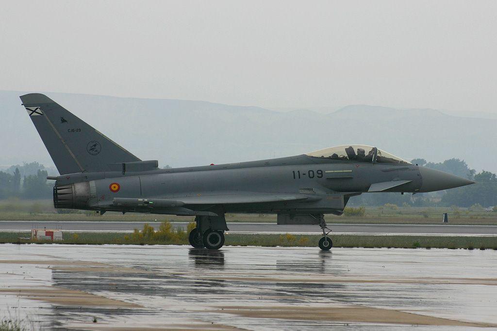 Eurofighter Typhoon del Ala 11 del Ejercito del Aire